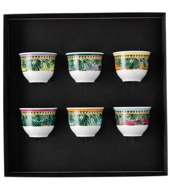 Jungle Animalier Rosenthal Versace Set di 6 Bicchiere piccolo senza manico