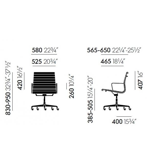 Vitra: Aluminium Group  EA 117 Chair