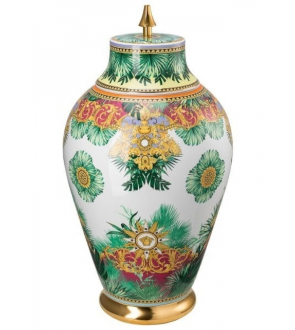 Jungle Animalier Rosenthal Versace Vase with Lid