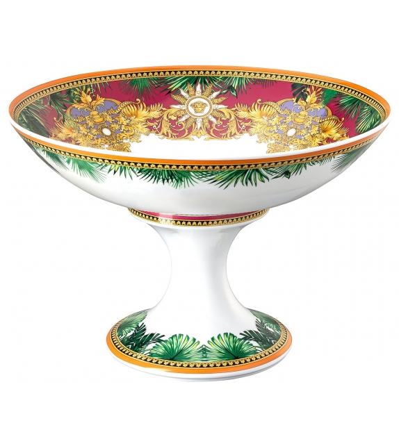 Jungle Animalier Rosenthal Versace Bowl with Foot