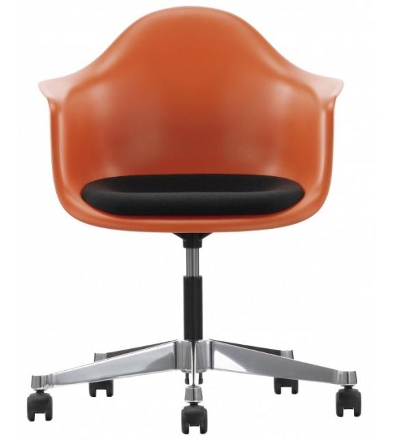 Eames Plastic Armchair PACC Drehstuhl Mit Kissen Vitra