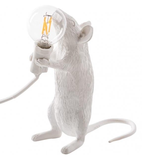 Listo para entregar - Mouse Lamp Step Seletti Lámpara de Mesa / Pie