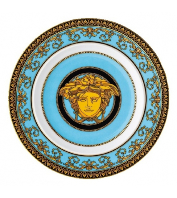 Medusa Celeste Rosenthal Versace Flat Plate