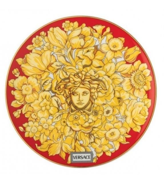 Medusa Rhapsody Red Rosenthal Versace Flat Plate