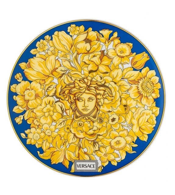 Medusa Rhapsody Blue Rosenthal Versace Flat Plate