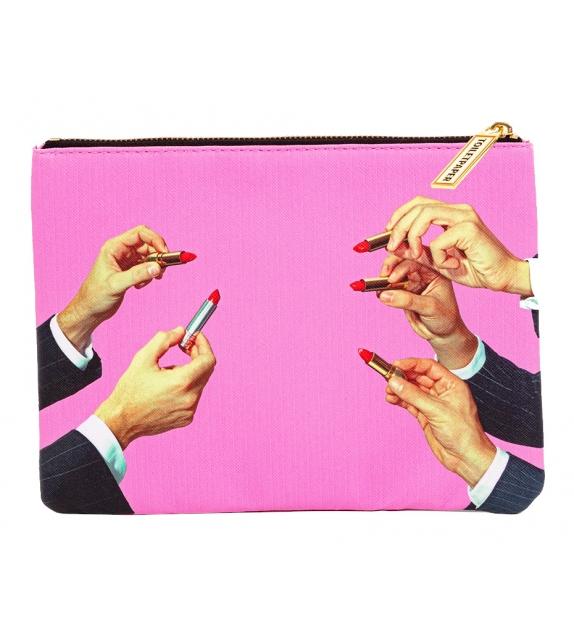 Versandfertig - Lipstick Pink Seletti Münztasche