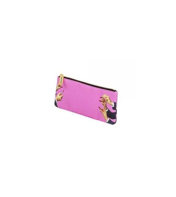 Ready for shipping - Lipsticks Pink Seletti Pencil Case