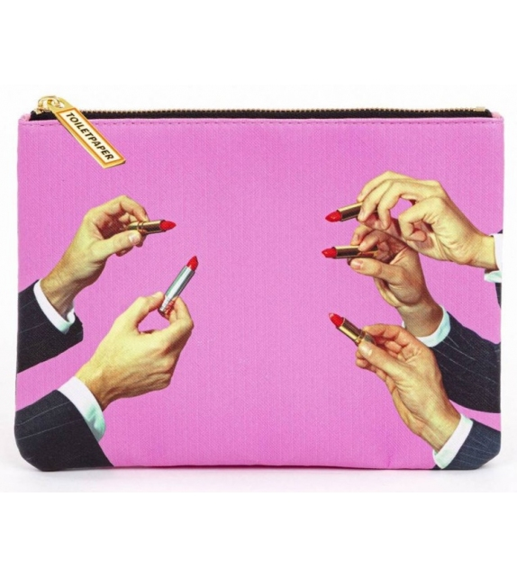 Ready for shipping - Lipstick Pink Seletti Cosmetic Bag