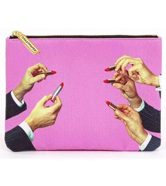 Versandfertig - Lipstick Pink Seletti Kosmetiktasche