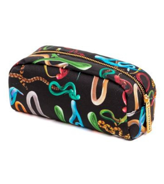 Versandfertig - Snakes Seletti Unterarmtasche