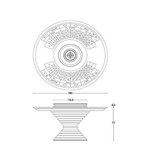 Round Table 160 Vismara Mesa de ruleta