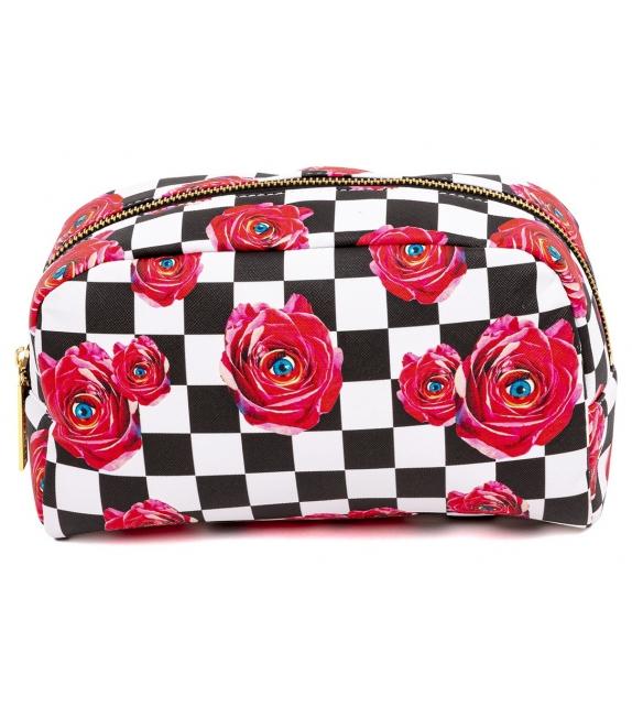 Pronta consegna - Roses on Check Beauty Case Seletti