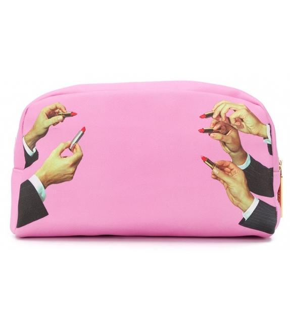 Versandfertig - Lipstick Pink Seletti Schminktasche