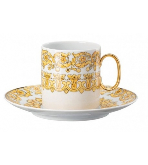 Medusa Rhapsody Rosenthal Versace Tall Coffee Cup & Saucer