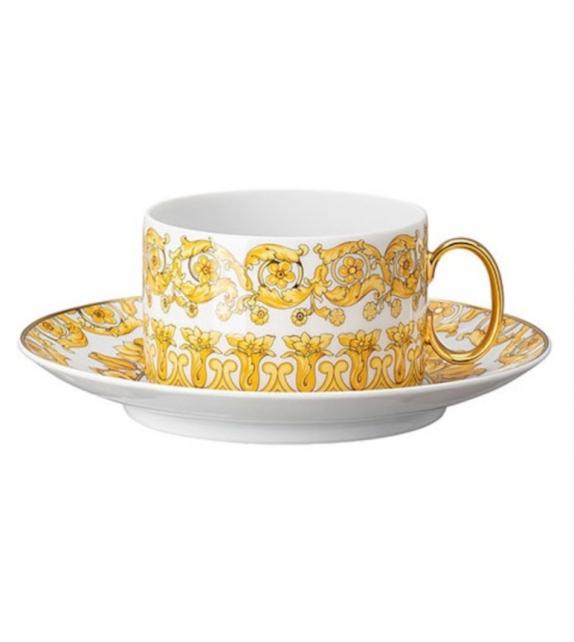 Medusa Rhapsody Rosenthal Versace Low Tea Cup & Saucer