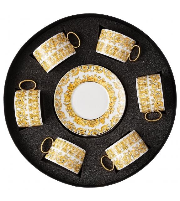 Medusa Rhapsody Rosenthal Versace Juego de Tazas de Té 6 Piezas