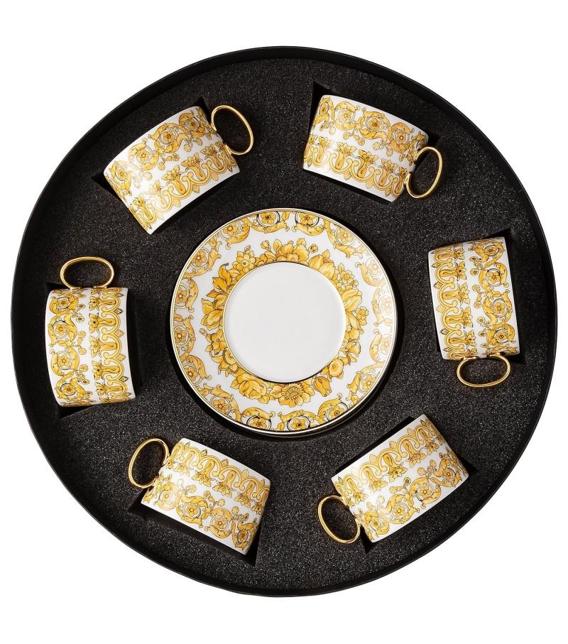Medusa Rhapsody Rosenthal Versace Set with 6 Tea c/s