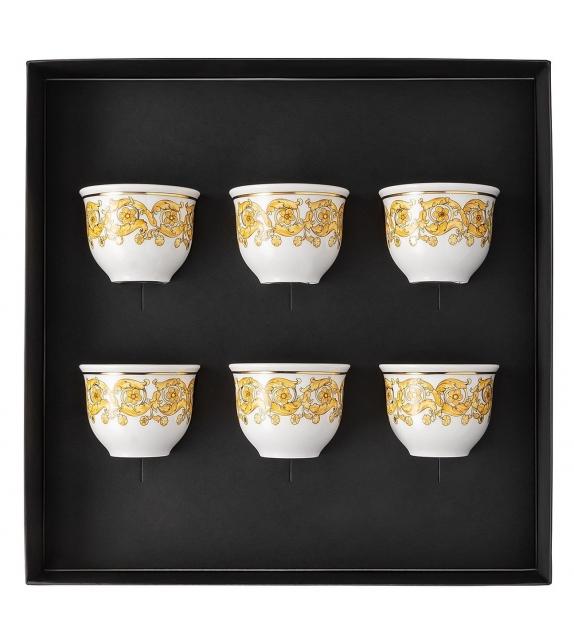 Medusa Rhapsody Rosenthal Versace Set de 6 Vasos Pequeños sin Asa