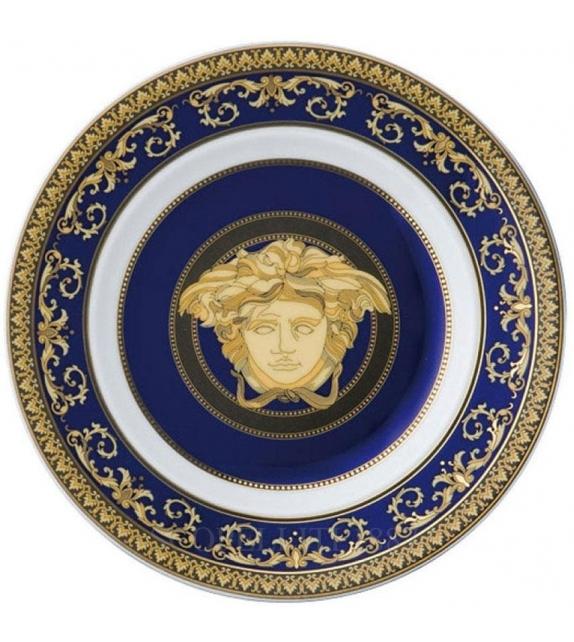 Medusa Blue Rosenthal Versace Flat Plate