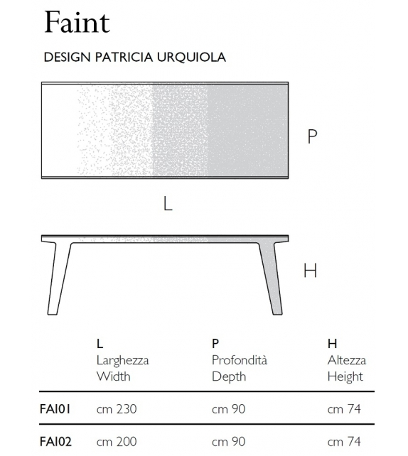Faint Table Glas Italia