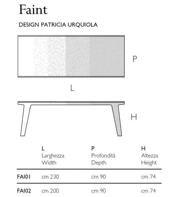 Faint Tavolo Glas Italia