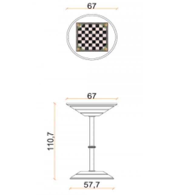Chess Board Table Vismara Reck-Tisch für Schach