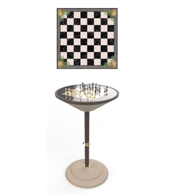 Chess Board Table Vismara Mesa de Barra Alta Para Ajedrez