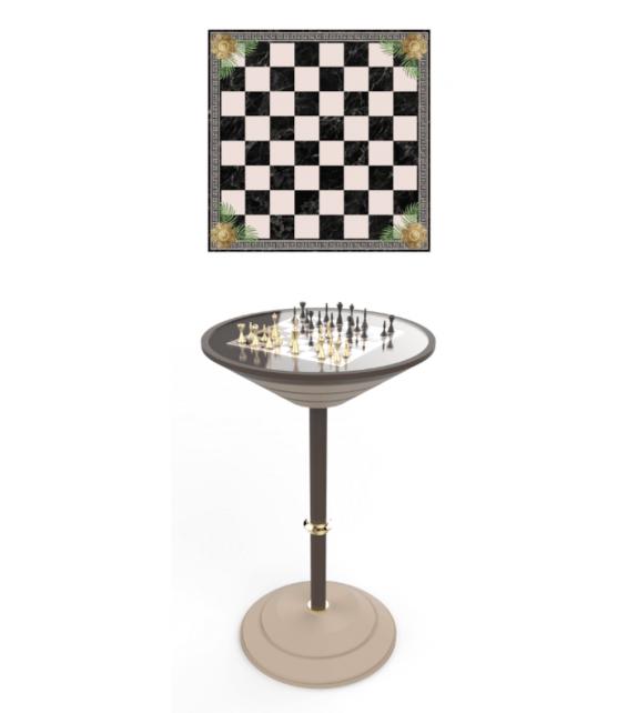 Chess Board Table Vismara Tavolo Alto con Scacchiera