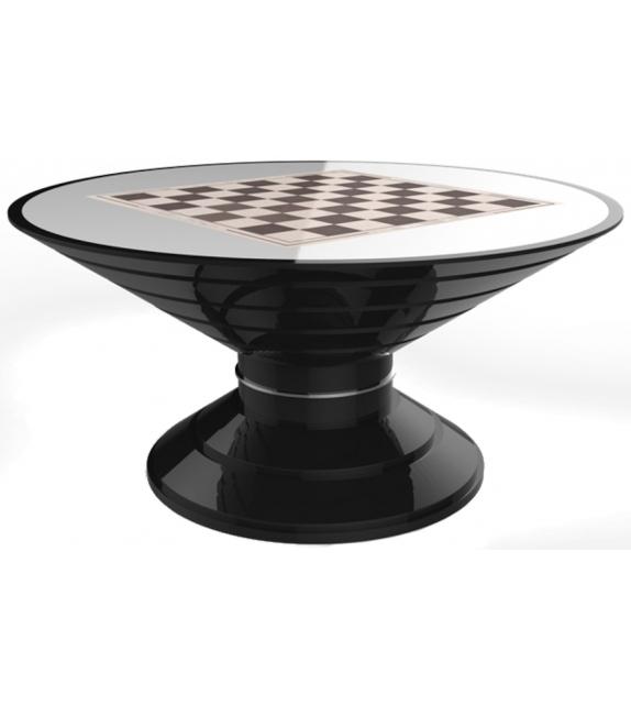 Round Game Vismara Chess Table