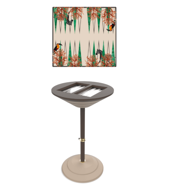 Backgammon Board  Vismara hoher Backgammon Tisch