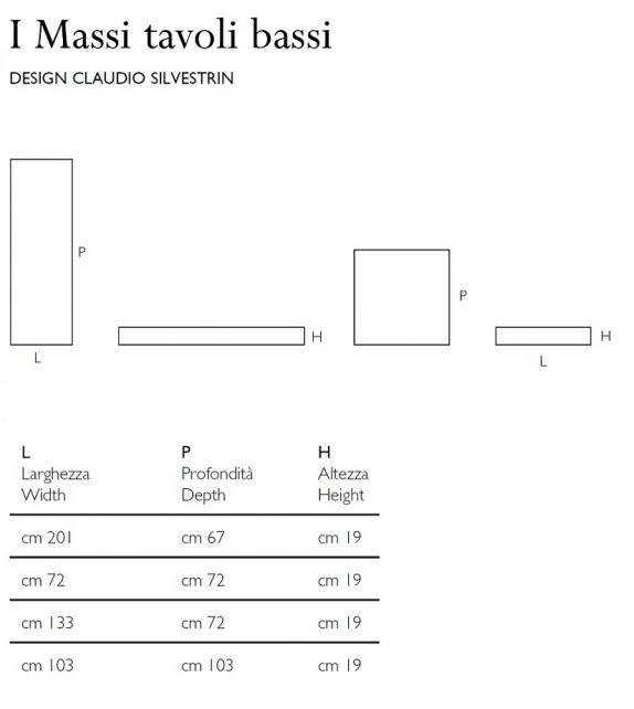 I Massi Low Tables Glas Italia