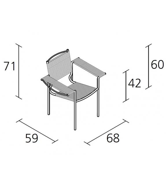 Spaghetti armchair - 109