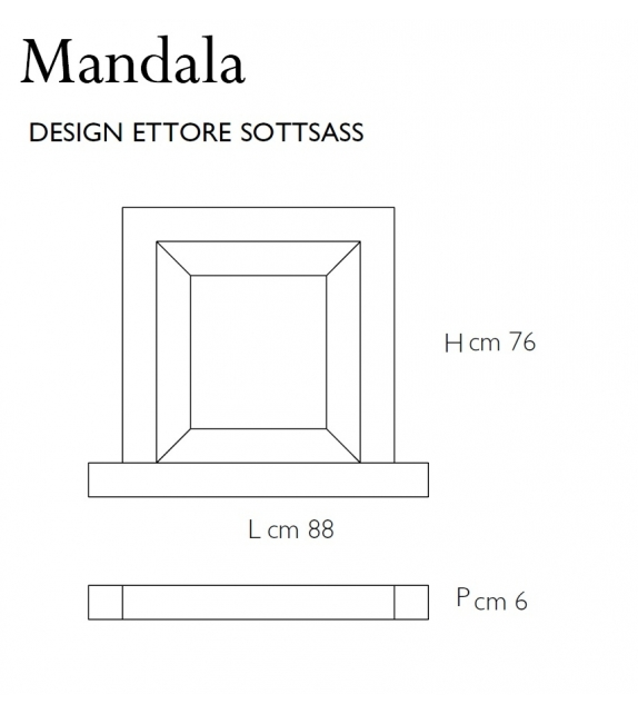 Mandala Mirror Glas Italia