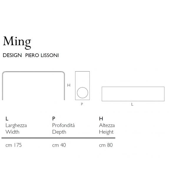 Ming Console Glas Italia