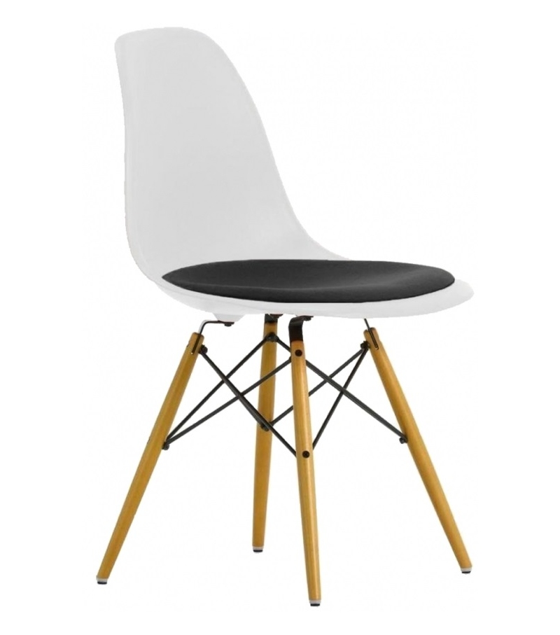 Eames Plastic Side Chair Dsw With, Eames Side Chair Pad