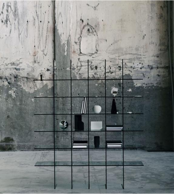 Glass shelves (1976) Librería Glas Italia