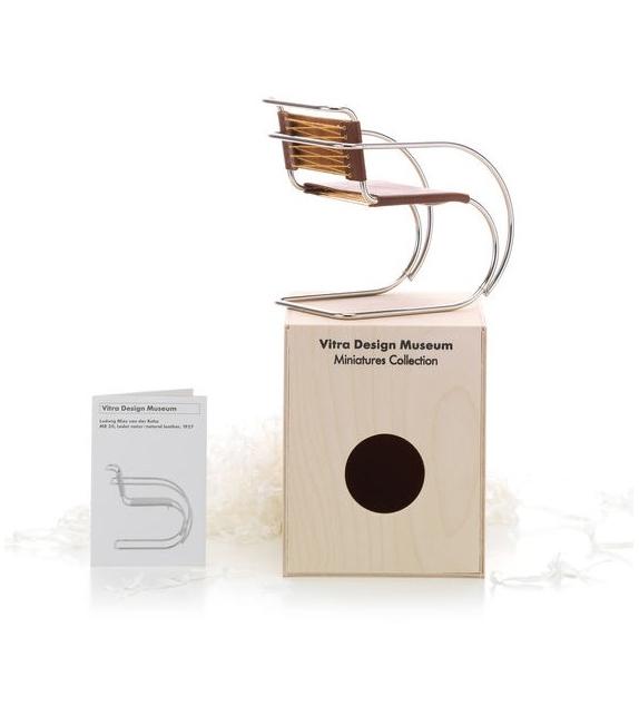Miniature MR 20, Mies van der Rohe, in pelle