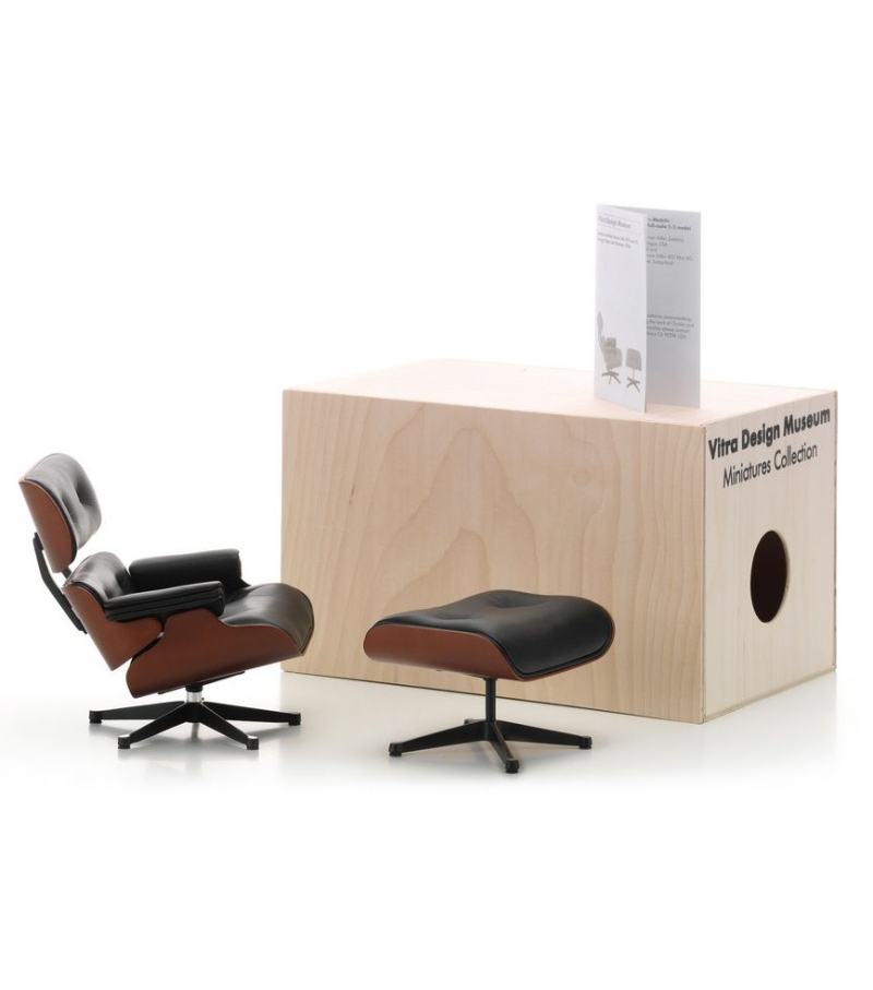 Miniatura Lounge chair & Ottoman, Eames