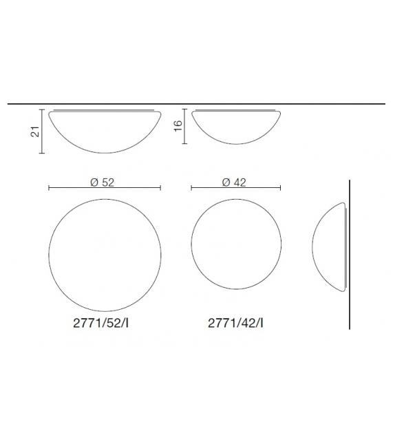 Semisfera Martinelli Luce Plafonnier/Applique