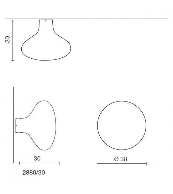 Pin Martinelli Luce Ceiling/Wall Lamp
