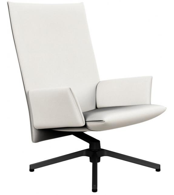 Pilot Chair Poltrona Alta Con Braccioli Knoll