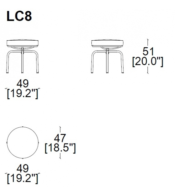 LC8 Tabouret Cassina
