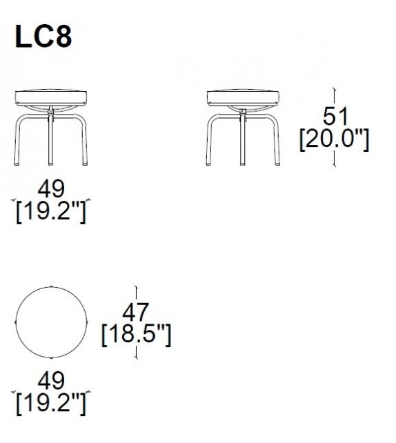 LC8 Taburete Cassina