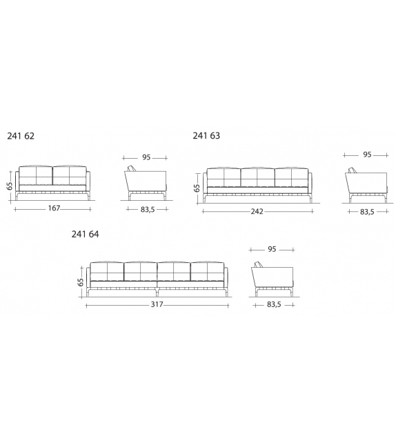 241 Privé divano 2 posti