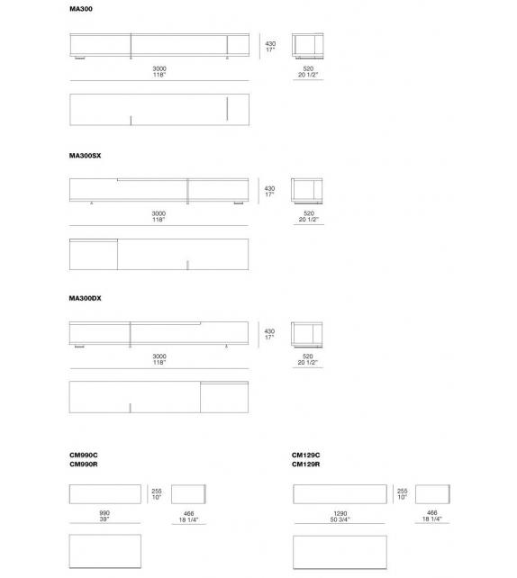 Poliform Bristol System Sideboard