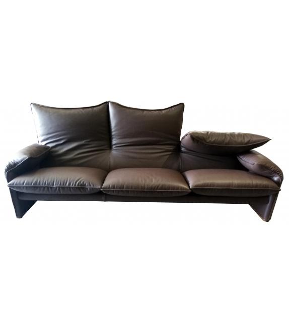 Ready for shipping - 675 Maralunga 40 Cassina Three Seater Sofa