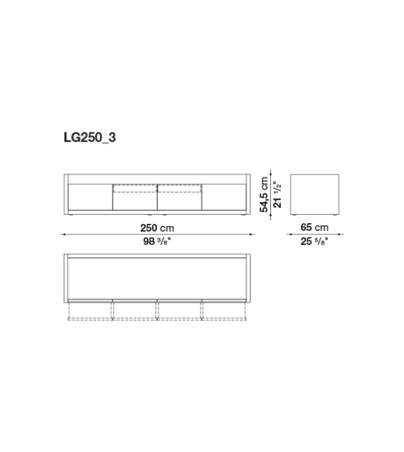 Ready for shipping - Liagò B&B Italia Sideboard