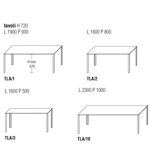 LessLess Table Rectangulaire Molteni & C