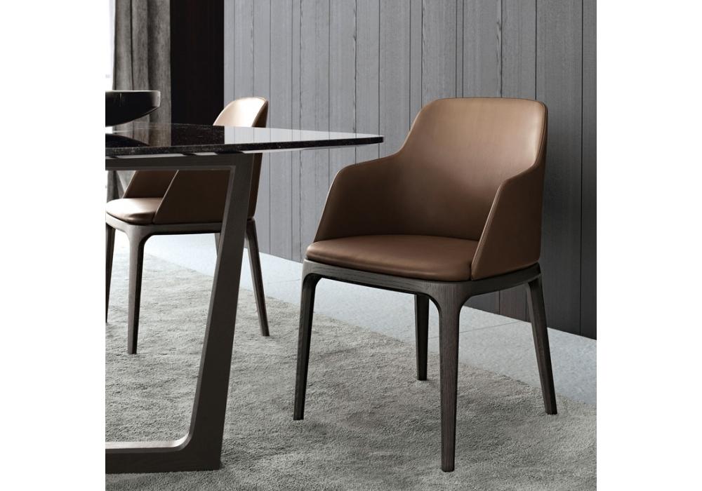 Grace Chair With Armrest Poliform Milia Shop