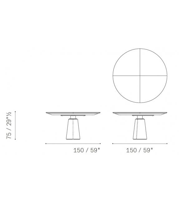 Mesa Due Marble Poltrona Frau Table